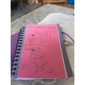 Luke has started his nature journal.