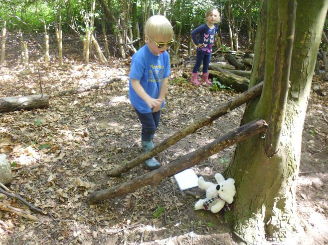We then made dens for our bears!