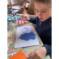 Faith has enjoyed doing art at home.