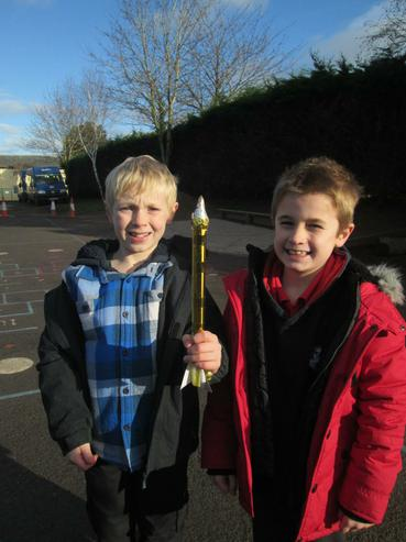 The winning team! Well done, Ben and Barnaby!