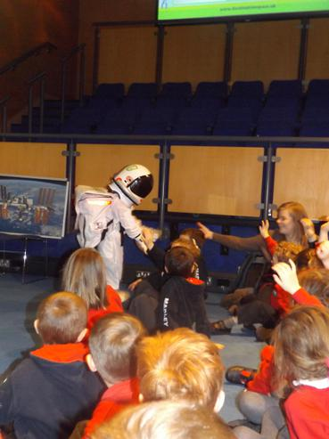 Our Madley astronaut on his first mission.