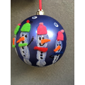 Snowman fingerprint baubles with felt accessories