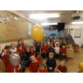 Some of our balloons floated but some sank