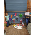 Issy worked on project with her brother.