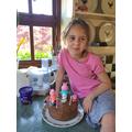 Sabiha enjoyed making a birthday cake.