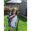 Issy made a bubble machine...