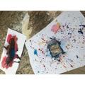 Elsa's Kandinsky inspired artwork