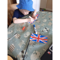 William getting ready for VE day.
