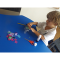 We made our own bubble machines.