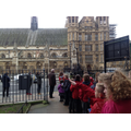 Arriving at the Houses of Parliament