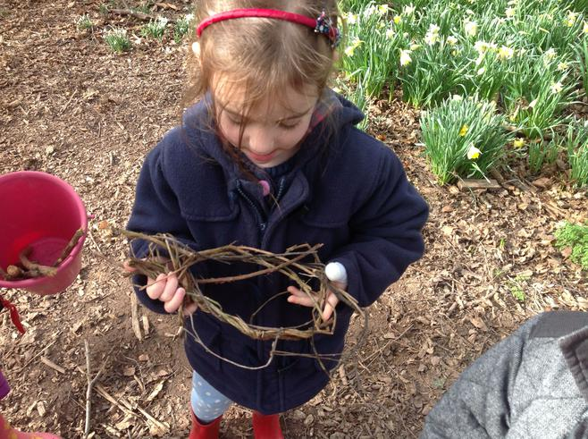 We weaved nests for our owls.