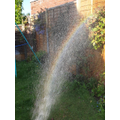 Hollie - making rainbows