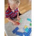 Adding numicon together.
