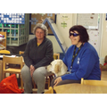 Clare and Rosie the Guide Dog came to see us