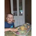 William enjoyed our potato experiment.