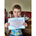 Tomas and his design for the Queen's knickers.