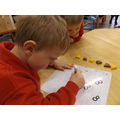 Recording the amount using a whiteboard