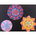 Circle patterns - Leo, Rowan and Roxy