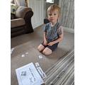 Zack practiced building sentences.
