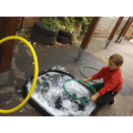 We added glycerine to make our bubbles stronger