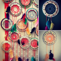 Paper plate dreamcatchers with weaving