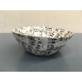 Paper mache bowls using recyled sheet music