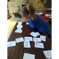 VIktoria made number sentences.