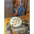 They both enjoyed eating them!