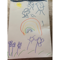 Daisy drew a lovely rainbow pictures for the NHS!