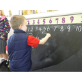 Practising writing numbers