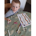 William created some colourful worms...