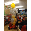 Miss Paton brought some balloons in!