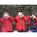 """I can see the hills through my binoculars"""