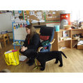 We had a visit from Dogs Trust