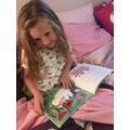 She has enjoyed sharing stories at home...
