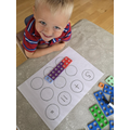 Stan has been using numicon to make numbers.