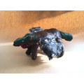 Painted plaster models of hybrid mythical beasts