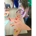 Creating butterfly patterns.
