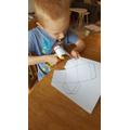 Creating a 3D net.