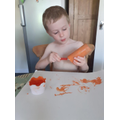 Will made his own Zog dragon...