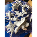 Plaster models of hybrid mythical beasts