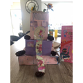 Eloise used re-cycled materials to make her own...