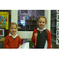Eva and Imogen, winners for KS1