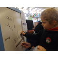 Checking number formation using a number line