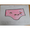 Ethan's holiday design for the Queen's knickers.