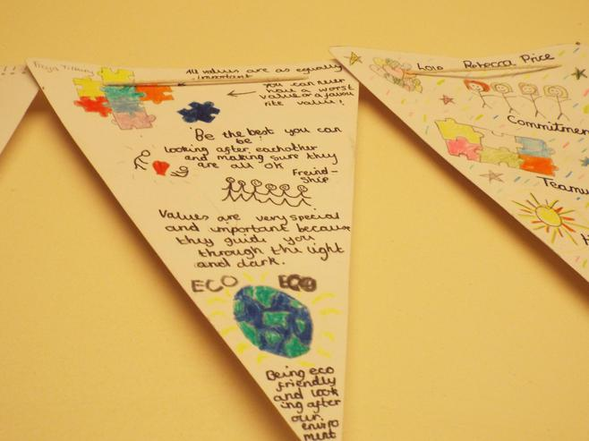 Values Bunting made by the children