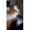 Jacob enjoyed designing his superhero.