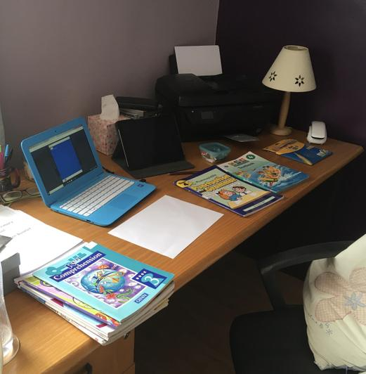 Miss Kennedy's work space