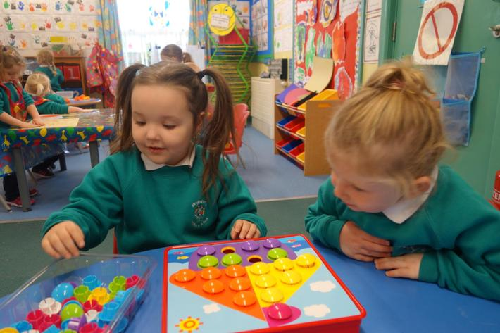 We develop early numeracy skills.