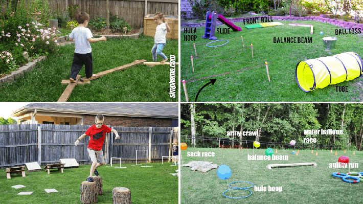 There are lots of ideas online for DIY obstacles.